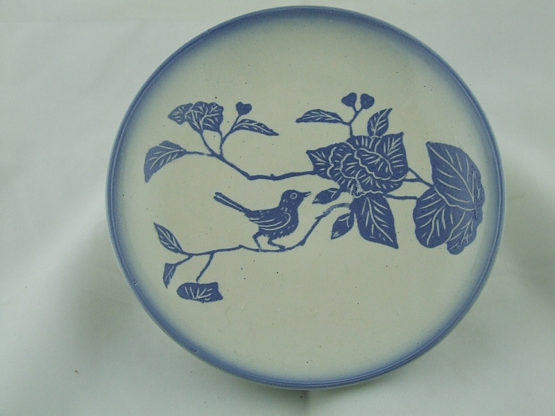 Platter with               Chinese bird motif