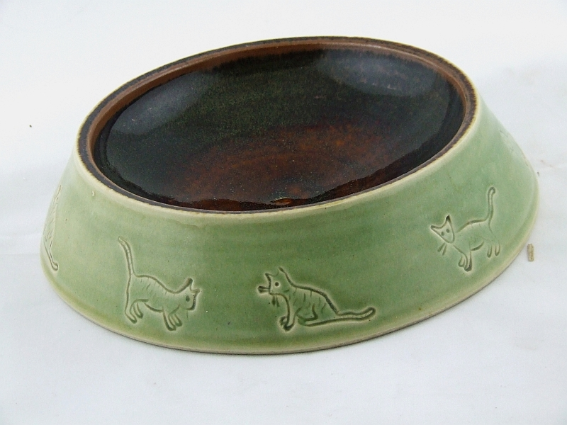 Cat bowl green