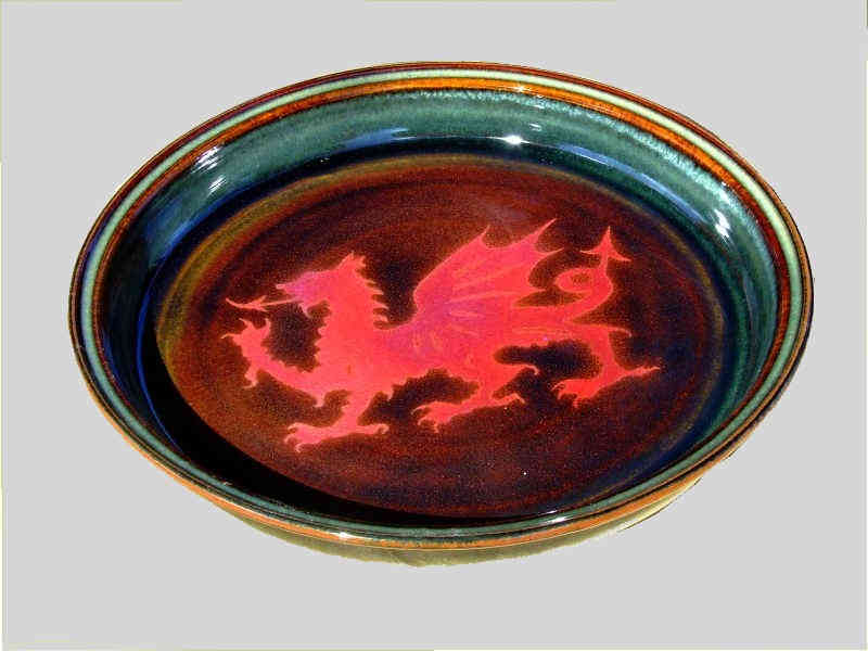 Platter with Welsh Dragon motif