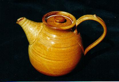 Another                       teapot. Indian Red glaze on this one.